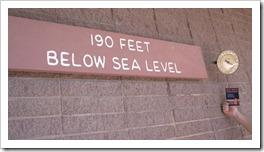 Death Valley 190 Feet