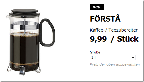 IKEA French Press FÖRSTA