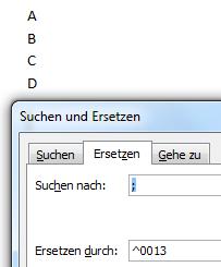 Word 2007 Suchen & Ersetzen