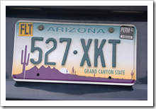 Arizona Nummernschild